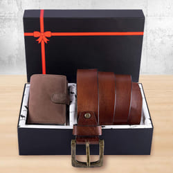 Amusing Hide and Skin Mens Leather Card Holder, Belt N KN95 Mask to Aalangulam