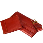 Long Leather Wallet with transparent flap & zip to Kolkata