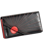Black & Red Sunrise Designed Genuine Leather Ladies Wallet from Leather Talks to Chandigarh