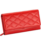 Red Wave shaped Genuine Leather Ladies Wallet from Leather Talks to Kolkata