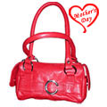 Fashionable Ladies Faux Leather Red Handbag to Hyderabad