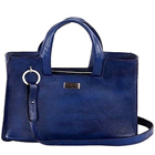 Blue Suave Looking Genuine Leather Handbag from Leather Talk to Cochin