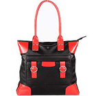 Red and Black styled Designer Ladies Genuine Leather Handbag from Leather Talk to Udaipur