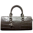 Bubbles Styled Grey Genuine Leather Ladies Leather Handbag from Cheemo to Chandigarh