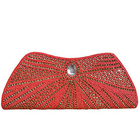 Stone Studded Clutch in Orange Shade to Bokaro