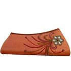 Impressive Stone Studded Floral Designer Clutch for girls to Mysore