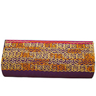 Remarkable Leather Clutch Bag in Purple with Embroideries For Her from Spice Art to Adilabad