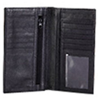 Long Leather Wallet with transparent flap And zip to Kolkata