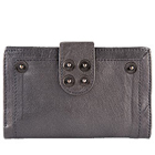 Elegant and Long Lasting Leather Grey Wallet for Women to Bhubaneswar