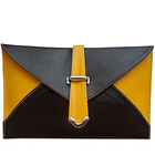 Wonderful Spice Art Black and Yellow Ladies Clutch to Baghpat