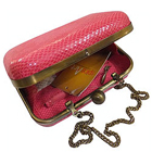 Sensational Spice Art Ladies Leatherite Box Clutch with Eye Catching Pink Design to Behrampur