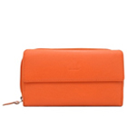 Smashing Ladies Wallet Made of Genuine Leather in Orange Colour from Urban Forest to Bijapur