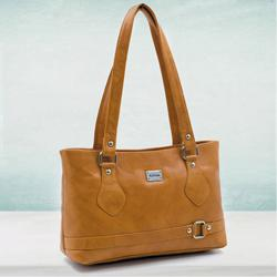 Trendy Tan Leather Handbag for Her to Alapuzha
