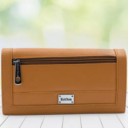 Marvelous Tan Color Leather Vanity Bag for Women to Agartala