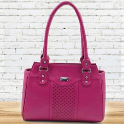 Lovely Pink Color Leather Vanity Bag for Ladies to Agartala