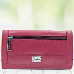 Beautiful Womens Red Color Leather Vanity Bag to Allahabad