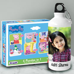 Fantastic Personalized Photo Sipper n Peppa Pig Puzzle to Adoni