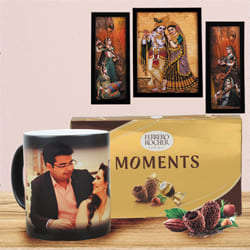 Marvelous Personalized Anniversary Gift Hamper to Aizwal
