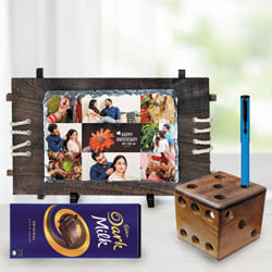 Mesmerizing Personalized Gift Combo for Dad to Aizwal