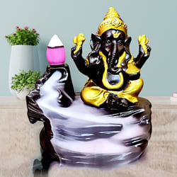 Attractive Lord Ganesh Smoke Backflow Cone Incense Showpiece to Alagappapuram
