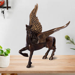Exclusive Antique Finish Brass Flying Angel Horse to Aizwal