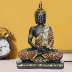 Auspicious Sitting Buddha Idol for Home Decoration to Adipur