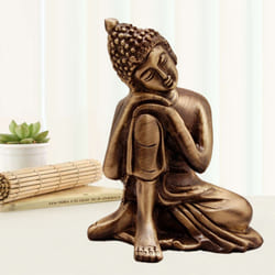 Wonderful Relaxing Buddha Metal Showpiece to Akola