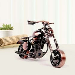 Impressive Miniature Vintage Metal Motor Bike to Akurdi
