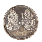 Pure Lakshmi Ganesh Silver Coin to India