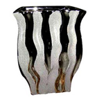 Amazing Silver finish Flower vase to Bhatinda