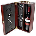 Wine Bottle Opener Gift Box with 2 wine glasses and space for wine bottle  to India