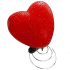 Designer Red Heart Lamp Set  to Chennai