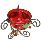 Shimmering Red Candle Stand Gift  to Ghaziabad
