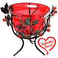 Sparkling Red Wrought Iron Candle Stand Gift  to India