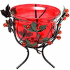 Sparkling Red Wrought Iron Candle Stand Gift  to Cheyar