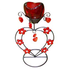 Stunning Red Wrought Iron Candle Stand Gift  to Chandigarh