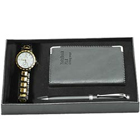 Splendid Watch Gift with Notepad N Pen  to Ambalamugal