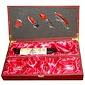 Wine Bottle Opener Gift Box Set with Bottle Case & 2 Wine Glasses to Nashik