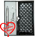 Ladies Clutch Purse with Key Ring and Pen Gift Set to India