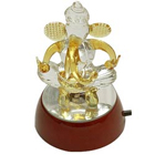 Lucky Crystal Ganesha Gift with Designer Lights to Mumbai