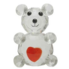 Cute Crystal Made Love Teddy with Heart to Cochin