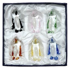 Gift Set of 6 Colorful Crystal Dolphins to India