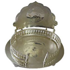 Auspicious Silver Plated Mandir Case to Aligarh