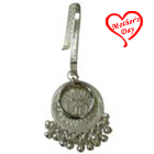 Artistically Designed Sliver Plated Key Chain for Ladies to Baraut