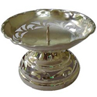 Intricately designed Silver Plated Candle Stand to Adra