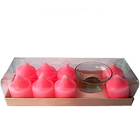 Gift set of 8 Pcs Rose Fragranced Aromatic Candles in Designer Candle Stand to Nashik