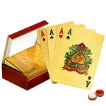 Gold Plated Playing Cards with Certificate of Authenticity with free Roli Tilak and Chawal to Anand