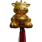 Smiling Gold Plated Feng Shui Rabbit to Varanasi