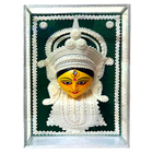 Auspicious Teracotta and Thermacol made Maa Durga in a Glass Frame to Yamunanagar