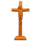 Religious Sandalwood Crucifix to Aligarh